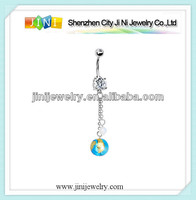 planet earth navel ring