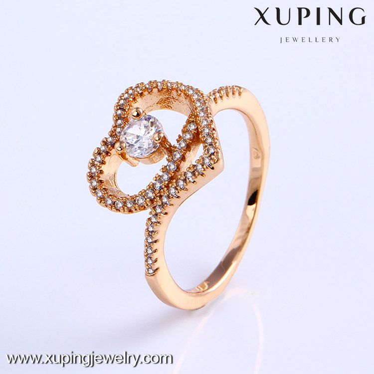 11742 High quality 18k gold color fashion couples finger ring