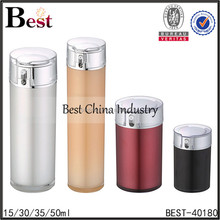 high quality different volumes hard plastic cylindrical container