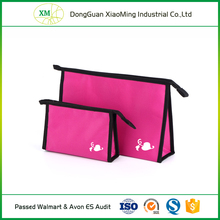 Wholesale recyclable ladies luxury fashion travel cosmetic bag set