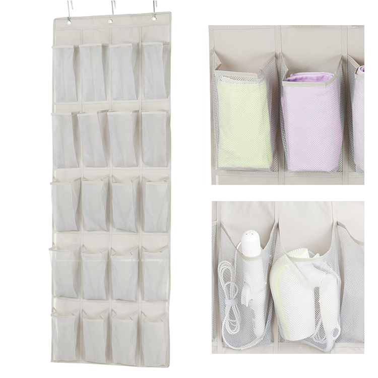 20 Pockets Over the Door Shoe Organizer Hanging Shoe Organizer