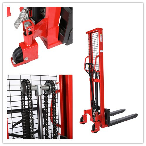 Manual Forklifts Pallet Stackers Hand Pump Operated Lift Trucks