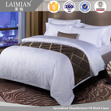 New 100% cotton Jacquard hotel bed linen white bedding set hotel