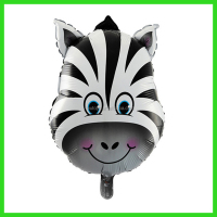 kids party zebra balloon, animal head balloon, foil balloon