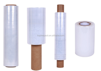 Hot film lldpe 20 micron mini roll stretch film 100mm for packaging