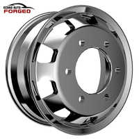 Heavy duty 22 . 5 x 9 . 0 / 22 . 5 x 8 . 25 /17.5 x6.0 inch forged aluminum truck wheels EFW-TB6037