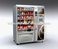 Automatic Coffee and Snack/cold drink vending machine LV-X01 with bills and coins accepted