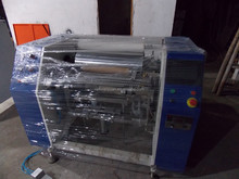 Semi automatic aluminum foil rewinding and cutting machine for food packaging