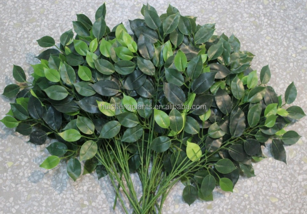 Hot sales high quality cheap artificial fake leaves for decoration/decorative artificial fake