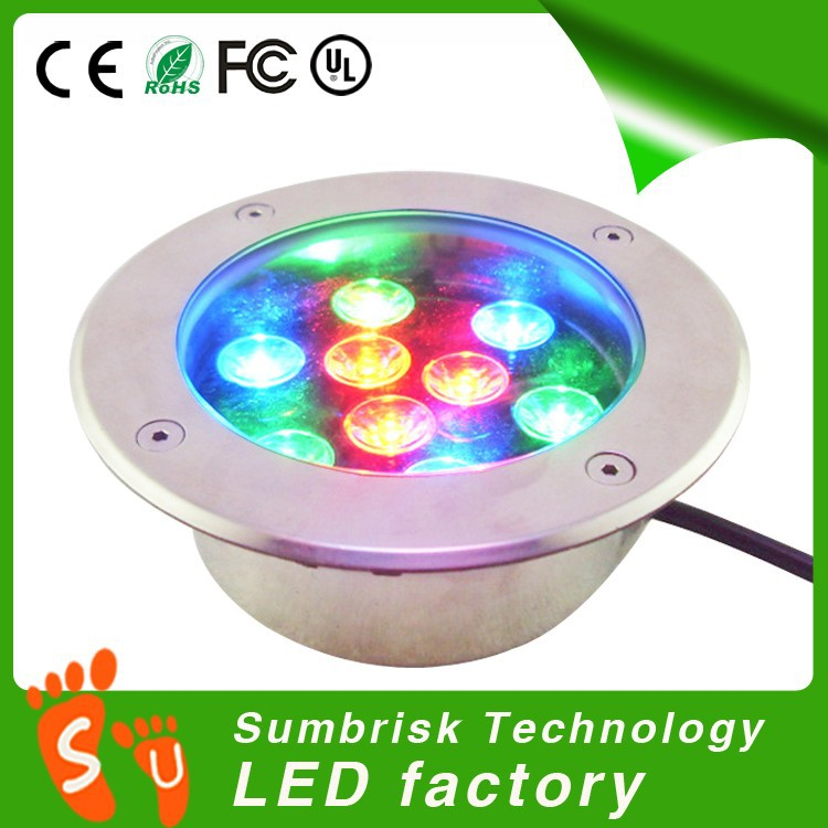 Factory Sale ip67 9W in ground led lights outdoor