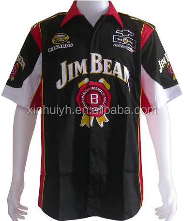 custom racing team pit crew shirt wholesale custom team racing shirts