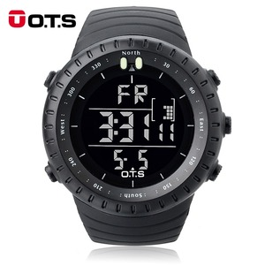 OTS Sports Watches 50M Waterproof Large Dial Clock LED Hours Outdoor Military Luminous Wristwatch