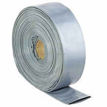 factory supply lowest price 6bar grey PVC water layflat hose