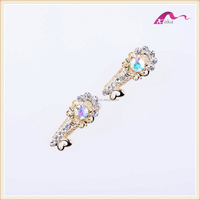 Ladies Fancy Gold Crystal Flower Hair Clips Alligator Accessories