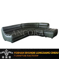 European style luxury genuine leather corner sofa A150