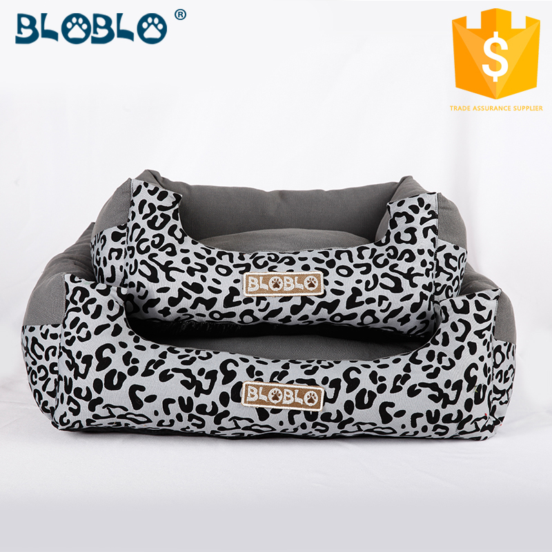 Dark color modern style warm pet dog bed with removable cushion