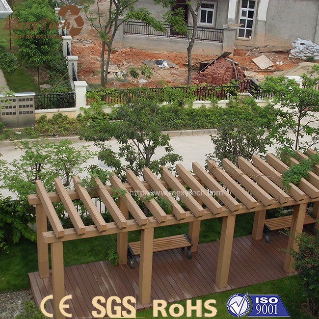 Cheap waterproof Chinese outdoor garden composite wood wpc gazebo