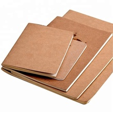 Natural handmade recycle brown kraft paper notebook