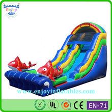 hot sale PVC inflatable slip and slide pool/ inflatable dolphin water slide/ inflatable water slides prices