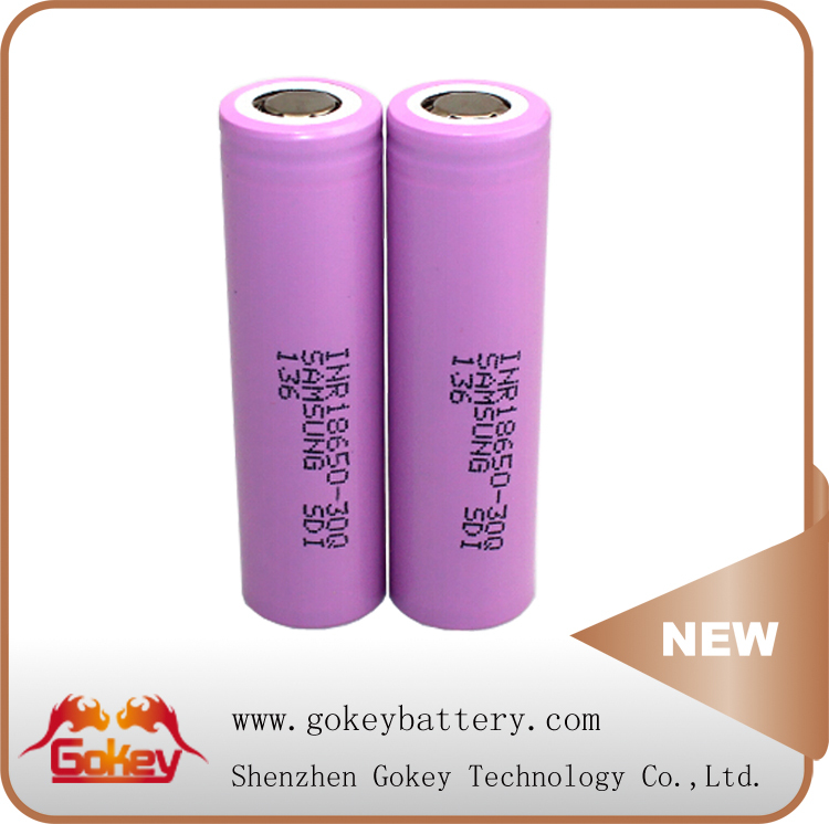 Samsung 30Q 3.7v 3000mAh Lithium ion Rechargeable Volta Car Batteries