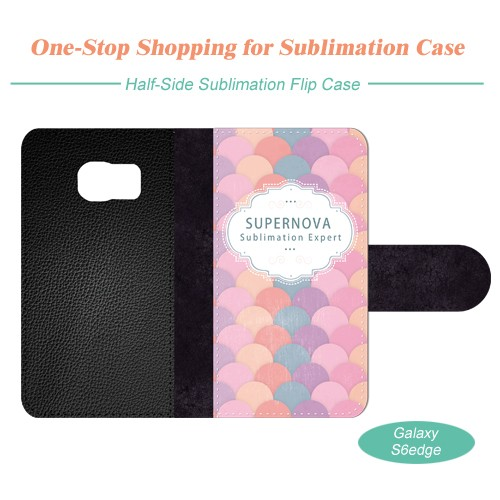 Sublimation Leather Mobile Phone Case for Samsung Galaxy S6 edge