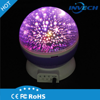 Invech Star Lighting Lamp 4 LED Bead 360 Degree Romantic Room Rotating Cosmos Star Projector star projector for ceiling