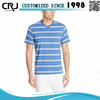 New product striped 100% polyester v-neck t-shirt supplier