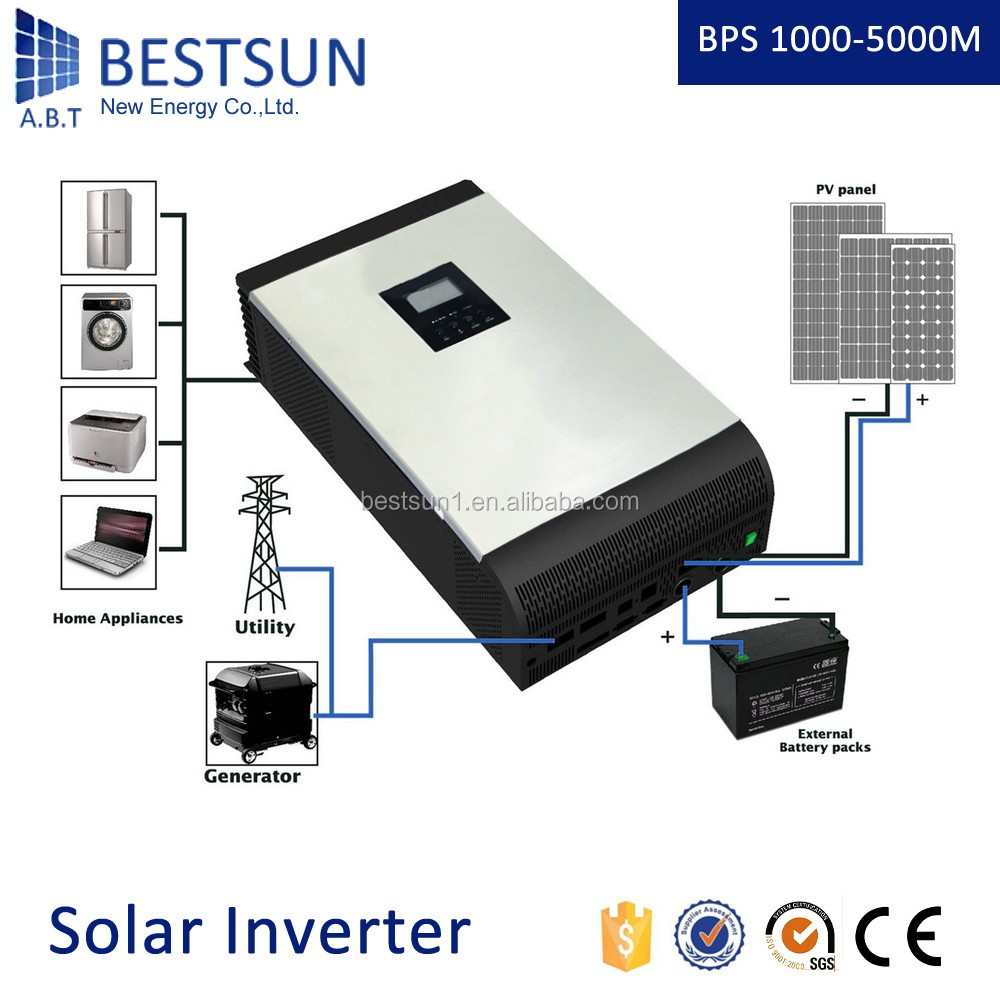 BESTSUN 6000 watt pure sine wave solar inverter / Green power dc to ac inverter 230v can used for air conditioner