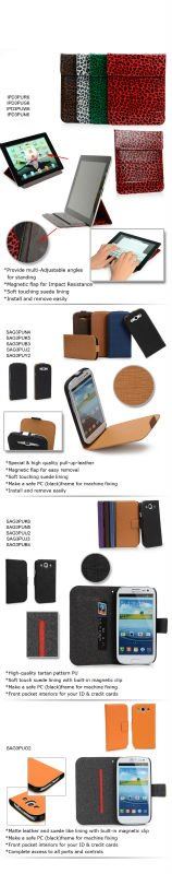 For Protect Galaxy S3 & New iPad Cases