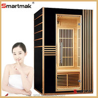 smartmak SMT-021P 2persons indoor solid wood FIR sauna room, Luxury home Spa Ozone Far Infrared Sauna Cabin