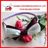 2014 hot sales Ribbon Headband With Organza Flower