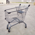 Black powder coating supermarket shopping carts