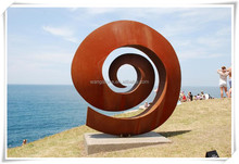 2015 Best Selling Abstract Corten Steel Modern Sculpture For Outdoor Decor
