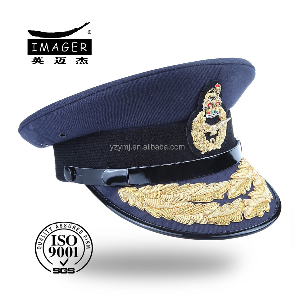 Fashion custom made fitted navy senior warrant officer hat