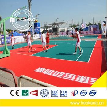 Portable Eco-Friendly Modified PP Modular Suspended Interlocking Flooring