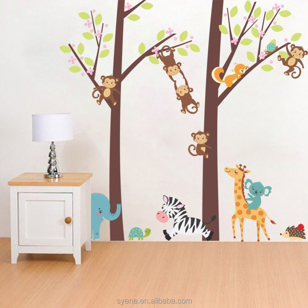 list manufacturers of wall decals kids room 3d buy wall decals syene new 3d art removable xl monkey trees animal wall decals kids baby room wall decor stickers living room
