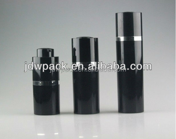 black twist airless cosmetic dispenser 0.5oz airless pump bottle 15ml 30ml 50ml
