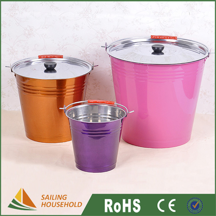 Brand new beer buckets for sale, colored metal buckets, metal ice beer buckets