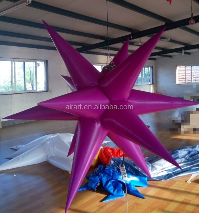 2015 christmas yard inflatables purple star