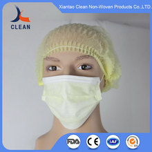 disposable non-woven mob cap, medical clip caps bouffant cap