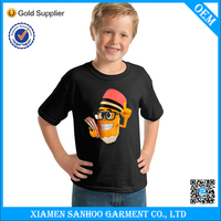 Breathable Children Plain Custom T Shirt Printing Summer Clothes