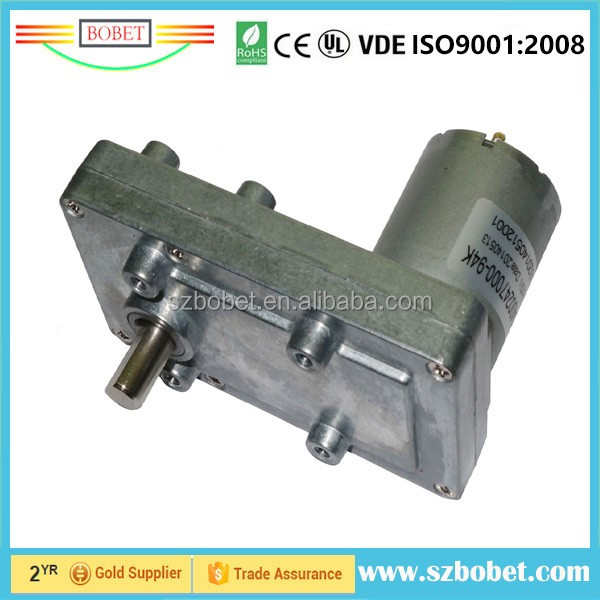 12v Dc Worm Gear Motor High Torque Low Rpm For Lifting