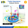 Battery operated fishing game toy with music for kids