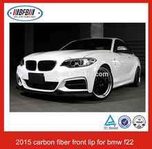hot selling black carbon fiber 2 series F22 front spoiler lip bumper FOR BMW 2015
