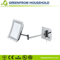 Square Led Wall Mounted Lighted Makeup Mirror