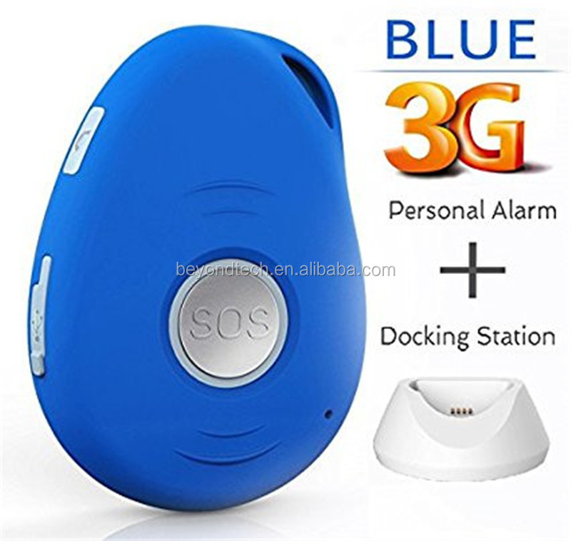 Personal Mobile Alarm 3G Mini GPS Tracker with Fall Detect and Hands Free