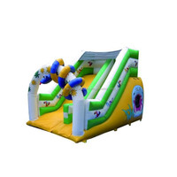 Promotion low price custom big kahuna inflatable water slide M4012