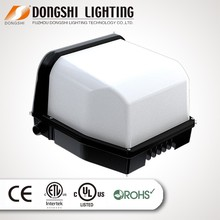 60w DLC led wall pack light, led light ul listed meanwell driver with free shipping cost