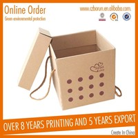 top quality white card paper box printing with a handle