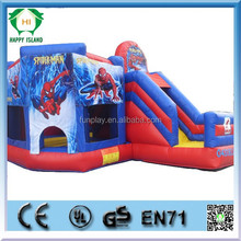 HI 0.55mmPVC Double stitching inflatable slide, inflatable super slide, indoor kids air slide